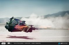 Boba Fett Speeder - ILM Art Department Challenge - Survivor - Concepts, James Simmons on ArtStation at https://www.artstation.com/artwork/k1q1A