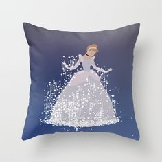 cinderella getting ready for the ball... throw pillow with insert by studiomarshallgifts on Etsy