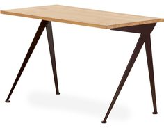 "Jean Prouve - Vitra - compact desk -- for underneath the stairway  49.25"" wide x 23.5"" deep x 28.75"" high"