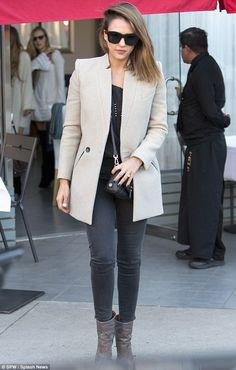 Fantastic phwoar: Jessica Alba was looking in fine form indeed as she left Petrossian in the West Hollywood Design District