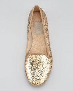 UGG Australia Asher Shearling-Lined Glitter Loafer