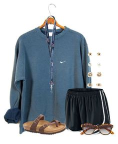"""""""I really want this shirt!!!"""" by flroasburn on Polyvore featuring NIKE, Birkenstock, H&M and Forever 21"""