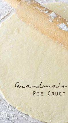 Cake Ingredients, Pie Crust Recipes, Pie Crusts, Amish Pie Crust Recipe, Pie Dough Recipe, Bisquick Recipes, Pie Dessert, Dessert Recipes, Soul Food