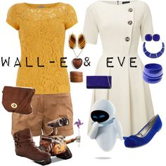 """Wall-E & Eve"" by saeabryony on Polyvore"