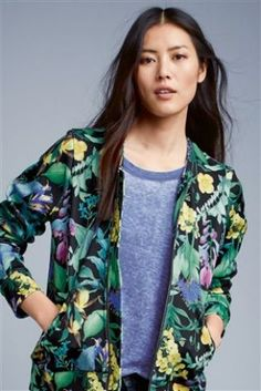 Buy Floral Printed Bomber Jacket from the Next UK online shop
