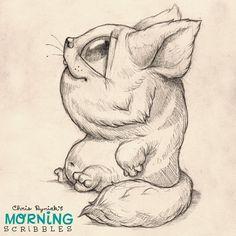 Ich habe ein Tier mit einer Nase gezeichnet!  Ich bin mir nicht sicher, wie ich mich dabei fühle.  #morningscribbles