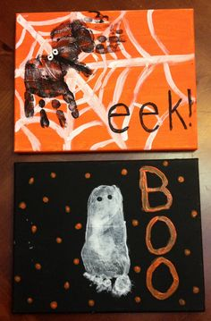Spooky Halloween craft with hands and feet!