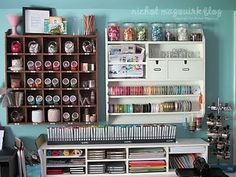 Hopefully one day I will have my own craft/sewing room to organize!
