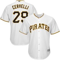Francisco Cervelli Pittsburgh Pirates Majestic Cool Base Player Jersey - White