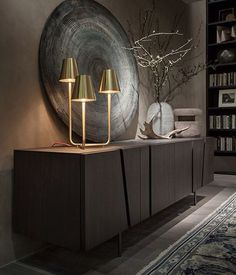 We are here to give you the best interior design inspiration and the best sideboard and buffet ideas for your home decor! Luxury Home Decor, Luxury Interior, Luxury Furniture, Home Furniture, Furniture Design, Furniture Showroom, Furniture Plans, Rustic Furniture, Modern Interior Design