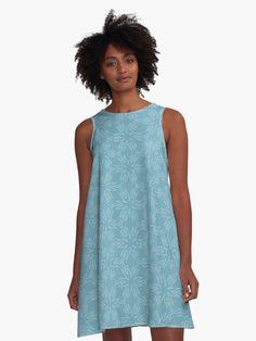 """Milky Blue #1"" A-Line Dress by Kettukas | Redbubble Light Purple Background, Blue Clouds, Pastel Yellow, Pink Blue, Purple Backgrounds, Line Patterns, Fleece Fabric, Plus Size Dresses, I Dress"
