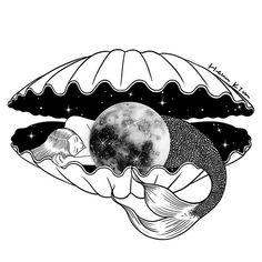 The moon under the sea 바닷속에도 달이 있다면 ♀️ #moon #mermaid #seashell