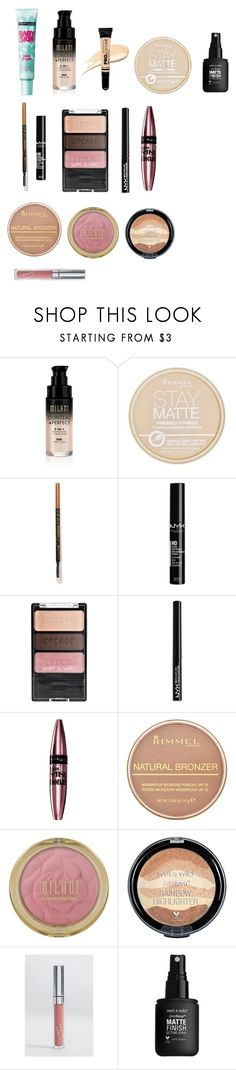 """""""everyday makeup"""" by ef1993 on Polyvore featuring beauty, Maybelline, Rimmel, L.A. Girl and NYX"""