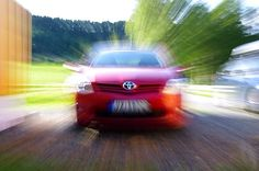 My first 'zoom-blur' photo of my Toyota