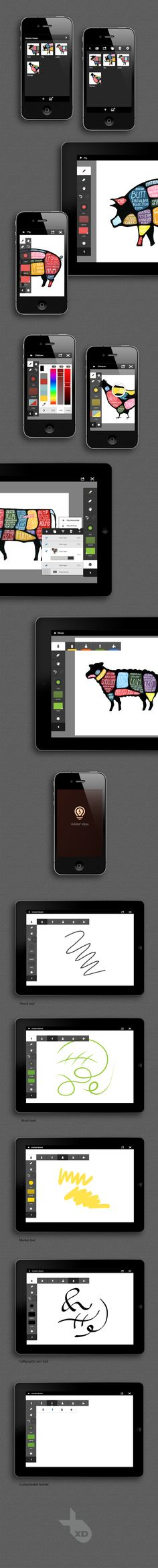 Vector sketching app for tablet & mobile.