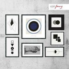 Las formas geométricas, los diseños abstractos y las líneas rectas, son ideales para crear #cuadros minimalistas