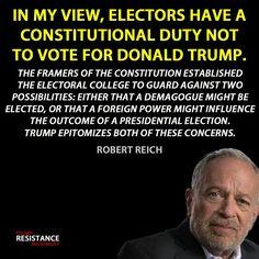 Economist Robert Reich on the true purpose of the Electoral College, e.g., checks and balances.