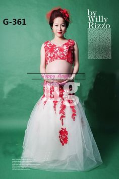 70.00$  Buy now - http://alisou.worldwells.pw/go.php?t=32334531948 - 2015 New  clothing for pregnant women Photography Props Chiffon Net Dress Pregnancy Pure Red White  sexy set Free shipping 70.00$
