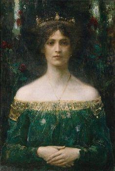 """""""Дочь короля"""" (1902). Уэйт Эдвард Уилкинс (1854-1924) - английский художник пейзажист."""