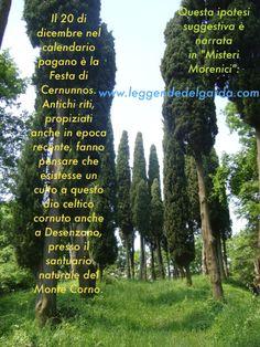 il 20 dicembre, anticamente, era la Festa di Cernunnos, dio che a mio avviso aveva un culto e un santuario al Monte Corno di Desenzano del Garda