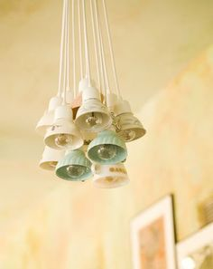 teacup chandelier = I wonder if this could be done like pot lights?