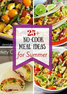 Enjoy great meals without heating up the kitchen! Try these ideas for your family. Easy Summer Meals, Easy Meals, Summer Meal Ideas, Summer Food, Summer Fresh, Crockpot Summer Meals, Summer Meal Planning, Frugal Meals, No Heat Lunch
