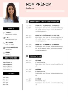 Modèle CV à remplir et à télécharger sur Word et PDF Resume Layout, Resume Cv, Cv Design, Resume Design, Best Cv Template, Templates, Cv Models, Resume Photo, Cv Curriculum