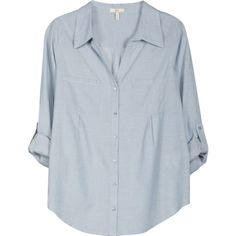 Cartel Top (€88) ❤ liked on Polyvore featuring tops, blouses, shirts, long sleeves, chambray blue, long sleeve tops, joie blouse, sleeve shirt, blue long sleeve blouse and blue blouse