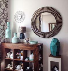 Zrcadlo Orbita SILV. BRONZE 94x94 Foyer, Entryway Tables, Entrance Hall, Corridor, Mirrors, Bronze, Furniture, Home Decor, Entryway