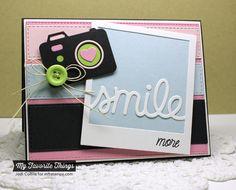 Smile, Cute Cameras 2 Die-namics, TRANSFORM-ables Smile Die-namics, Vertical Stitched Strips Die-namics - Jodi Collins #mftstamps