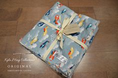 Preppy Style Baby Boy Rag Edge Blanket 27 x by KylaMayCollections