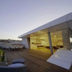 Situated atop an art deco building in Sydney, Australia is the Bondi Rooftop Penthouse.