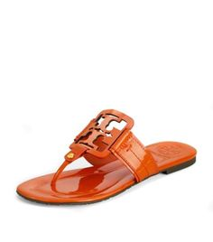 Tangerine sandals by Tory Burch, Tory Burch , Who doesn't love these!?