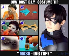 Low cost skin tight MASKING tape mask