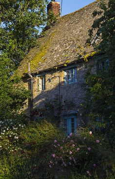 From the moss on the thatched roof to the perennials in the garden.. this is the quintessential cottage where you walk in to the scent of wood smoke and lavender.... Upper Heyford, Oxfordshire, England