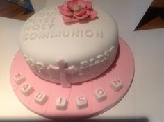 Girlie communion cake