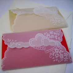 Handmade Parchment Paper Craft Vintage Style, Greeting cards, Thank You Cards, Love Cards, Cheque Pocket