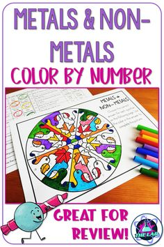 Metals and Non-metals Color by Number Science Activity High School Chemistry, Chemistry Teacher, Middle School Science, Science Resources, Science Activities, Science Fun, Science Ideas, Physical Science, Science Classroom