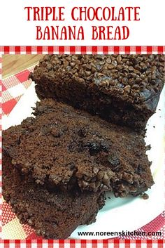... chocolate banana bread? Triple Chocolate banana bread of course! Enjoy