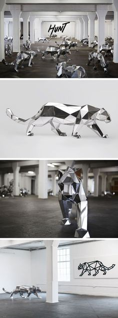 Arran Gregory's Leopard Sculptures