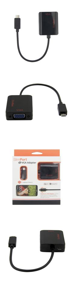 SlimPort to VGA Adapter Cable 1080p HDTV Projector Video Converter for LG Optimus G Pro and LG G2 SlimPort Male to VGA Female