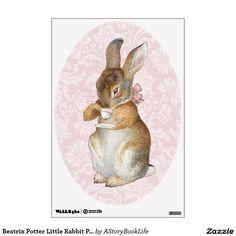 Beatrix Potter Little Rabbit Pink Wall Decals