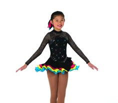 New Jerrys Competition Skating Dress 61 Crescendo Of Colour Dress Made on Order | eBay