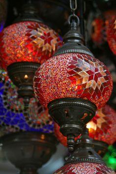 Istanbul Grand Bazaar Grand Bazaar, Candle Lanterns, Chandeliers, Light Up, Moroccan, Istanbul, Mosaic, Room Ideas, Turkey