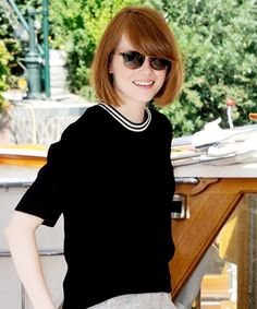 Look of the Day - August 29, 2014 - Emma Stone in Sandro from #InStyle