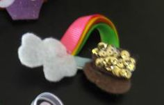 End of the Rainbow Hair Clip (original source unknown)