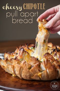 This pull apart bread is cheesy, spicy and completely delicious!
