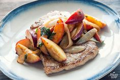Pork is a type of meat that goes very well with fruits. In this paleo recipe, pork chops are served with nectarines and onions for an easy and delicious meal.