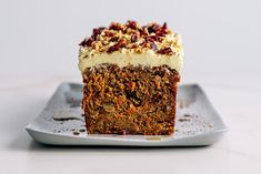 Craisin Spiced Carrot Cake with Cream Cheese Frosting Cake With Cream Cheese, Cream Cheese Frosting, Cake Recipes, Dessert Recipes, Desserts, Baking Recipes, Carrot Spice Cake, Carrot Cakes, Kitchens