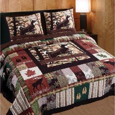 Greenland Home Fashions Whitetail Lodge Multi Full and Queen Quilt Set Rustic Chic Bedding, Unique Bedding, Quilt Sets, Cool Rooms, Bed Design, Luxury Bedding, Coastal Bedding, Bedroom Decor, Bedroom Ideas